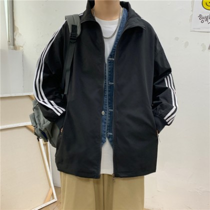 Men Clothing Loose Baseball Uniform Jacket