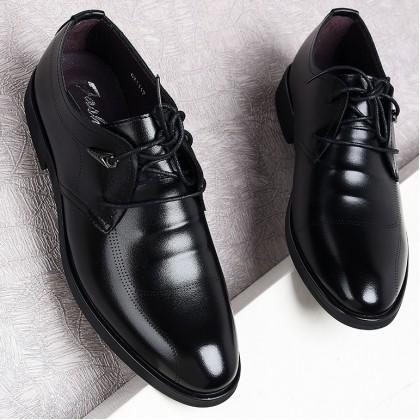 Men Casual black professional Lace-up Shoes
