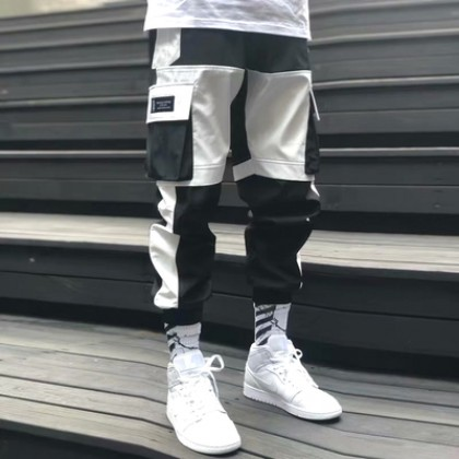 Men Clothing Multi-pocket Casual Long Sports Pants