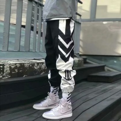 Men Clothing Multi-pocket Loose Casual Long Hip-hop Pants