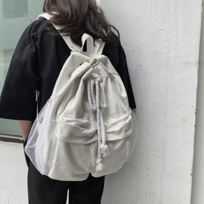 Women Street Fashion College Student Canvas Backpack