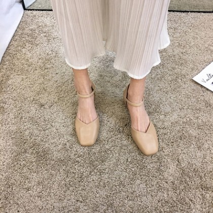 Women Thick-heeled Mid-heel Square Head Shoes