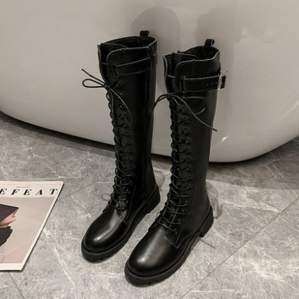 Women New Lace-up High-top Long Boots