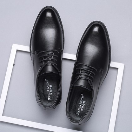 Men British Business Suit Breathable Lace-up Leather Shoes
