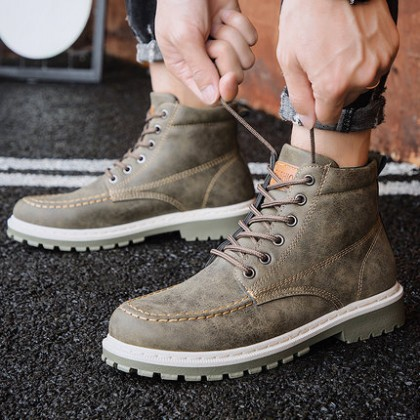 Men Waterproof Non-slip High-top Boots