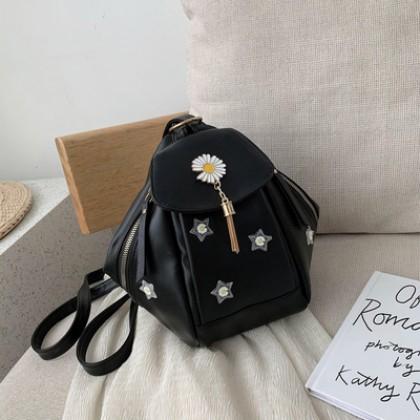Women Summer Daisy and Stars School Backpack