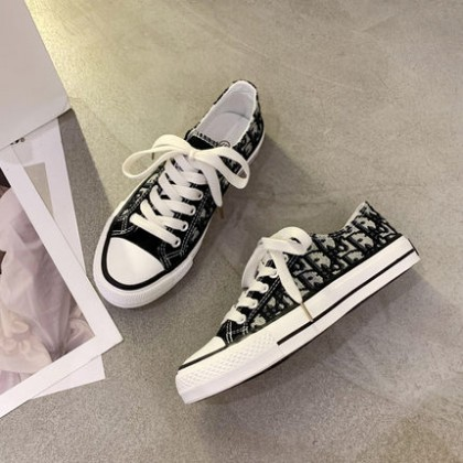Women Casual All-match Lace-up White Sneakers