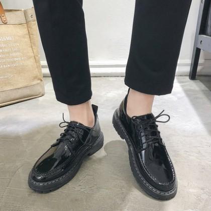 Men British Casual Black Business Formal Wear Work Shoes