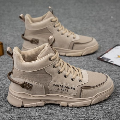 Men High Top British Trend Lace-up Boots