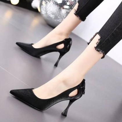 Women All-match Nude High Heels Pointed Toe Stiletto Sexy Shoes
