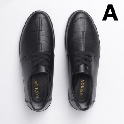 Men Non-slip Soft Sole Casual Leather Shoes