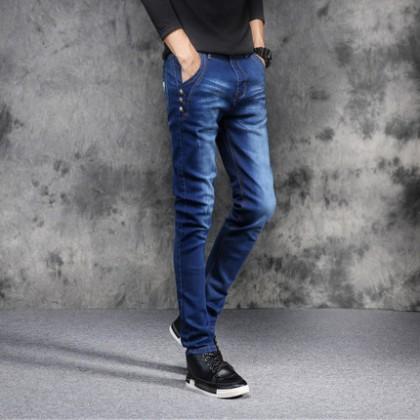 Men Clothing Casual Regular Denim Pants