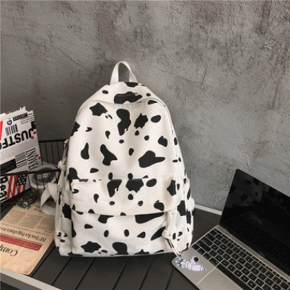 Women Large Capacity Pattern Cute Girl Canvas Backpack