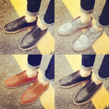 Men Retro England Carved Bullock Casual Shoes