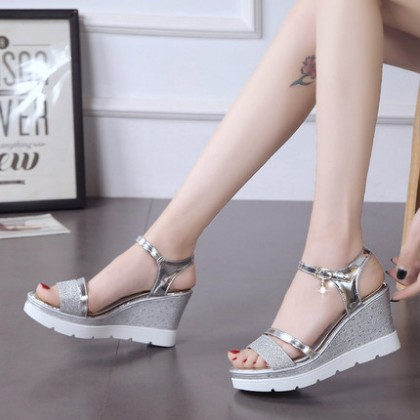 Women Summer New Slope Heel Waterproof Sandals