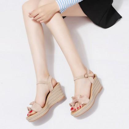 Women Summer Open Toe Ruffled Sandals