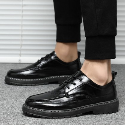 Men Business Trendy Soft-soled Lace-up Shoes