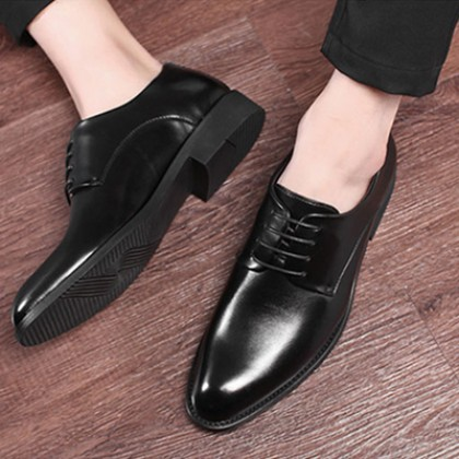 Men Casual British Style Lace-up Round-toed Shoes