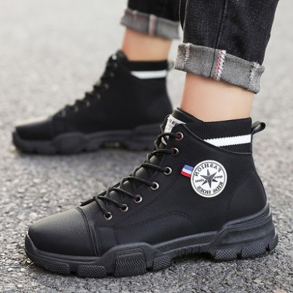 Men High-top Trend Lace-up Casual Boots