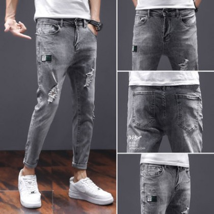 Men Clothing Ripped Casual Denim Pants
