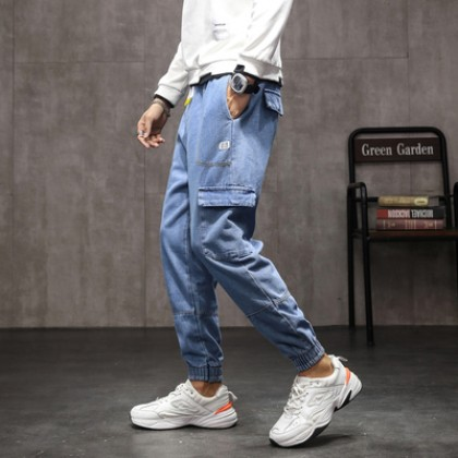 Men Clothing Summer Casual Long Trousers