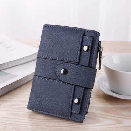 Women Simple Coin Bag Fashion Soft Leather Wallet