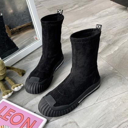 Women Fashion Casual Elastic Suede Short Boots
