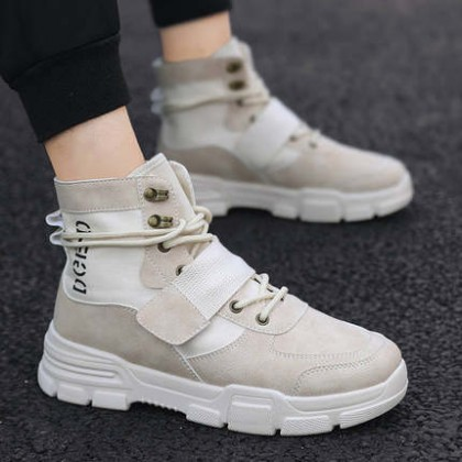 Men High-top British Style Military Boots