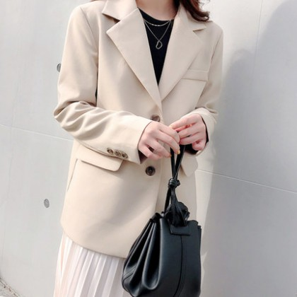 Women Clothing Korean Version Loose Casual Professional Suit Jacket