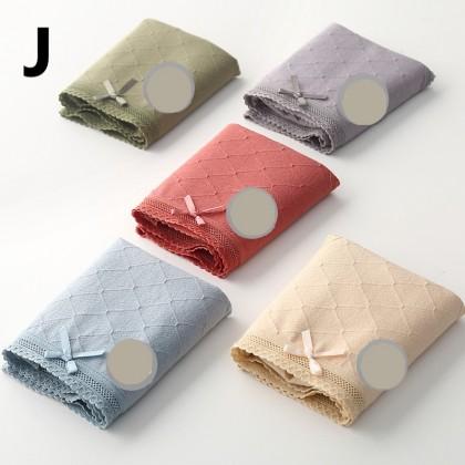 Women Clothing Pure Cotton Crotch Mid-waist Antibacterial Underwear