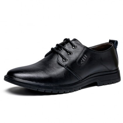 Men Business Formal British Style Leather Lace-up Shoes