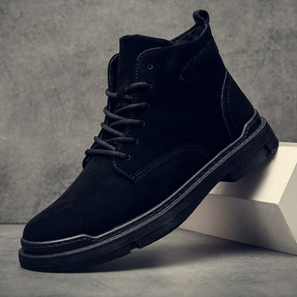 Men Lace-up Military High-top Lace-up Boots