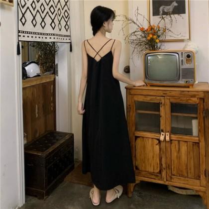Women Clothing French Style Long Skirt Shirt Dress