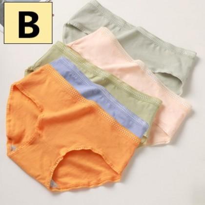 Women Clothing Seamless Cotton Mid-waist Triangle Shorts