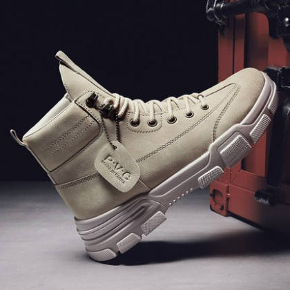 Men Casual High-top Military Lace-up Boots