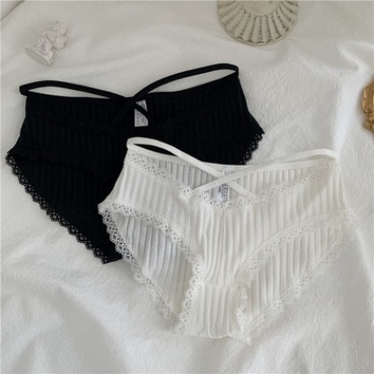 Women Clothing Seamless Lace-up Low-waist Underwear