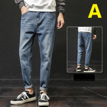 Men Clothing Straight Loose Trendy Casual Trousers