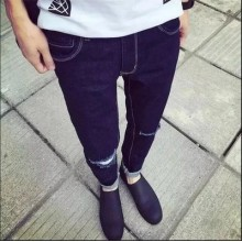 [PRE-ORDER] Men Casual Fashion Ripped Jeans