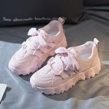 Women Casual Street Lace-up Sports Shoes