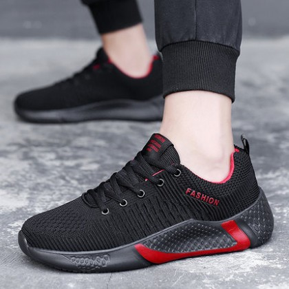 Men Fashion Running Flying Woven Mesh Sports Shoes
