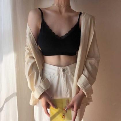 Women Clothing Anti-glare Vest No Steel Ring Sexy Bra