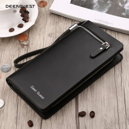 Men Trendy Soft Leather Clutch Mobile Phone Bag