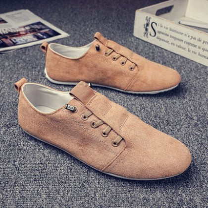 Men Fashion Summer Breathable Canvas Peas Shoes