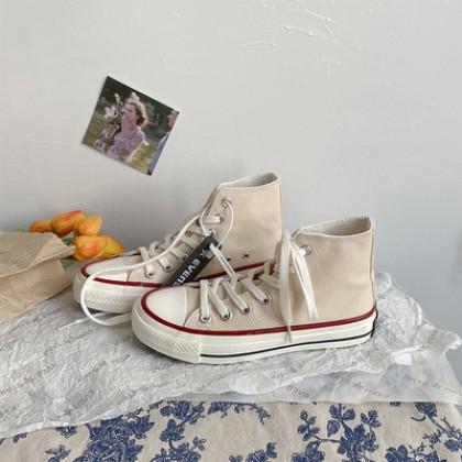 Men Fashion Retro High Top Canvas Shoes