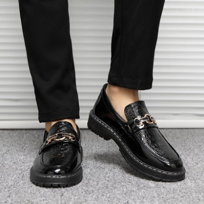 Men All-match Waterproof Breathable Business Casual Leather Shoes