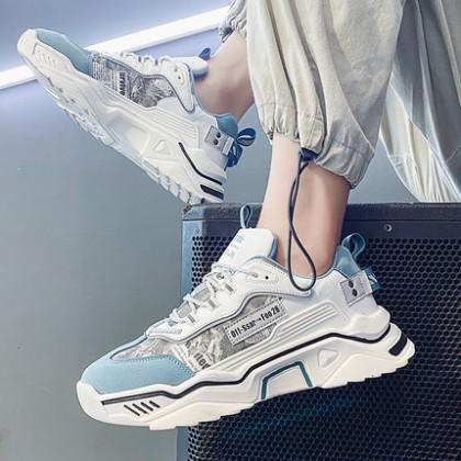 Men Canvas Sports Leisure Lace-up Board Shoes