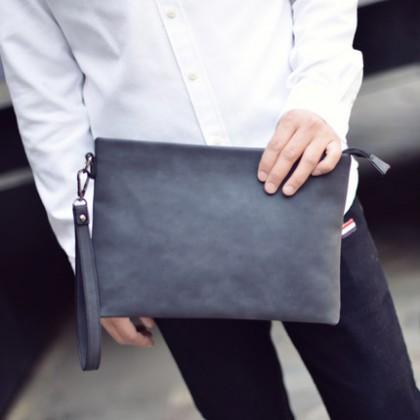 Men PU Business IPAD Envelope Handbag