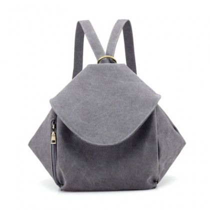 Women All-match Casual Canvas Student College Style Backpack