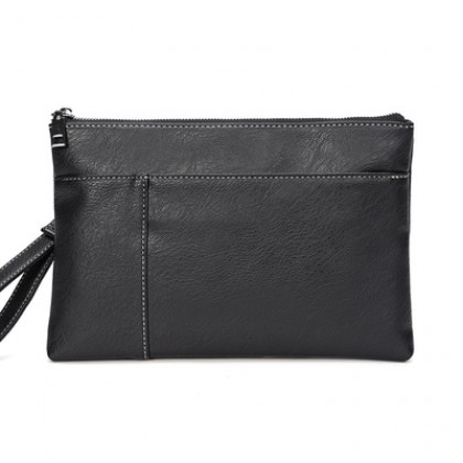Men Business Casual Envelope Leather Clutch Bag