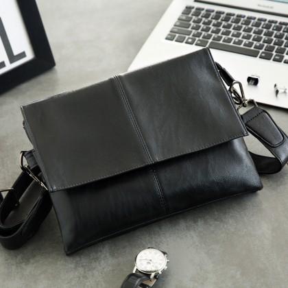 Men Soft Leather Fashion Diagonal Bag